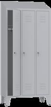 00150413 Szafa ubraniowa na nogach i daszek, 3 segmenty, 3 drzwi (wymiary: 2050x900x480 mm)