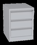 00150465 Szafa kartotekowa na teczki A5 poziome, 2 rzędy, 3 szuflady (wymiary: 710x525x630 mm)