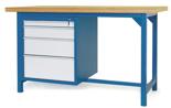 00853633 Stół warsztatowy, 4 szuflady (wymiary: 1500x900x740 mm)