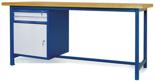 00853644 Stół warsztatowy, 1 drzwi, 2 szuflady (wymiary: 2100x900x740 mm)