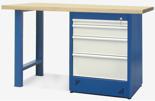 00853679 Stół warsztatowy, 4 szuflady (wymiary: 1500x900x740 mm)