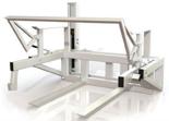 02960143 Wywrotnica skrzyniopalet do wózka widłowego, hydrauliczna (dla skrzyń: 100x120x80 cm, udźwig: 450 kg)