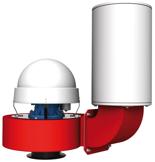 08549374 Wentylator promieniowy dachowy z wylotem pionowym WPA-8-D-3-N 400V (obroty synchroniczne: 3000 1/min, moc: 1,5 kW, wydajność wentylatora: 3900 m3/h)