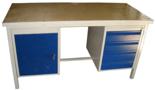13340634 Stół warsztatowy z jedną szafką uchylną i jedną czteroszufladową SW (wymiary: 1600x700x850 mm)