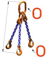 33948270 Zawiesie łańcuchowe trzycięgnowe klasy 10 miproSling A8W 21,2/15,0 (długość łańcucha: 1m, udźwig: 15-21,2 T, średnica łańcucha: 16 mm, wymiary ogniwa: 260x140 mm)
