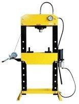 44358876 Prasa hydrauliczna, pneumatyka, ruchomy tłok, regulowany stół (siła nacisku: 50 T)