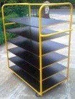 77157386 Wózek platformowy, 6 półek (wymiary: 1700x1200x600 mm)