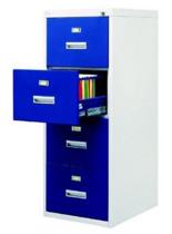 99551797 Szafka kartotekowa wzmocniona o podwyższonej odporności ogniowej, 4 szuflady (wymiary: 1380x530x635 mm)