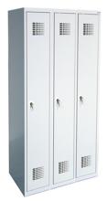 99551931 Szafka ubraniowa 0,5mm, 3 drzwi, zamek cylindryczny zamykany w 3 punktach (wymiary: 1800x900x500 mm)