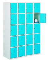99552278 Szafka ze schowkami 0,8-1,0mm, 20 drzwi (wymiary: 1800x1200x490 mm)