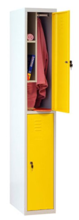 99552332 Szafa szkolna z półką wewnątrz, 2 drzwi, wersja lux (wymiary: 1800x400x490 mm)
