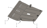 19157859 Osłona podwozia Jeep Grand Cherokee KL 2013-, Automatyczna skrzynia biegów, silnik: V-2,0CRDI (osłona zakrywa: Silnik, skrzynia biegów, chłodnica)