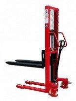 DOSTAWA GRATIS! 62666861 Wózek masztowy ręczny, szybka pompa (udźwig: 1000kg, długość wideł: 1150mm, wysokość wideł min/max: 85/1600mm)