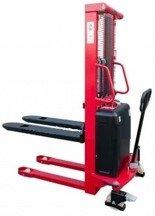 DOSTAWA GRATIS! 62666873 Wózek półelektryczny (udźwig: 1500kg, długość wideł: 1150mm, zakres podnoszenia: 90-1600mm)