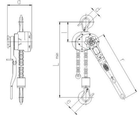 DOSTAWA GRATIS! 2202568 Wciągnik dźwigniowy z łańcuchem sworzniowym RZV/6.3t (wysokość podnoszenia: 1,5m, udźwig: 6,3 T)