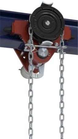 22038957 Wózek jedno-belkowy z napędem ręcznym Z420-A/1.0t/4m (wysokość podnoszenia: 4m, szerokość dwuteownika od: 50-113mm, udźwig: 1 T)