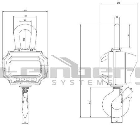 45643498 Waga hakowa Steinberg Systems SBS-KW-3000 LED (udźwig: 3T)