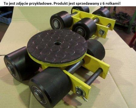 DOSTAWA GRATIS! 12267433 Wózek skrętny z otworem fi 21 w płycie nośnej, 6 rolkowy, rolki: 6x stal (nośność: 7 T)