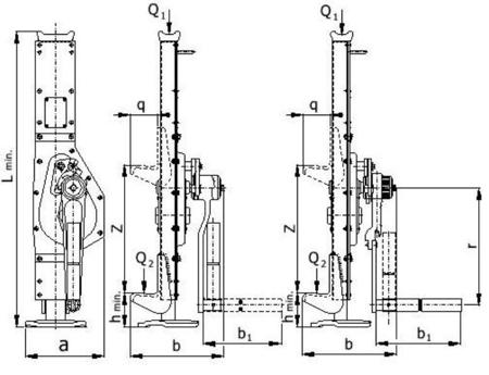 DOSTAWA GRATIS! 2203124 Podnośnik korbowy Z23/20.0t (udźwig: 20 T)