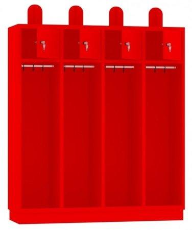 00141846 Szafa strażacka, 4 segmenty (wymiary: 1800x1590x480 mm)