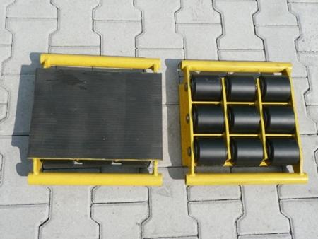 DOSTAWA GRATIS! 12235596 Wózek stały 9 rolkowy, rolki: 9x nylon (nośność: 6 T)