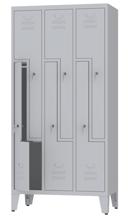 00150391 Szafa ubraniowa L na nogach, 3 segmenty, 6 drzwi (wymiary: 1860x900x480 mm)