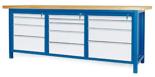 00853671 Stół warsztatowy, 13 szuflad (wymiary: 2100x900x740 mm)