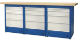00853703 Stół warsztatowy, 12 szuflad (wymiary: 2100x900x740 mm)