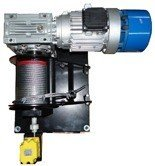 28871907 Elektryczna wciągarka linowa (siła uciągu: 170/220 kg, długość liny: 13m, moc: 1,1kW 400V)