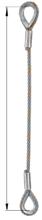33948332 Zawiesie linowe jednocięgnowe zaciskane tulejkami cylindrycznymi miproSling Typu Fk (udźwig: 33,5 T, wymiary pętli: 900/450 mm, średnica liny: 56 mm, długość liny: 1 m)
