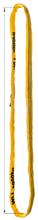 33948522 Zawiesie wężowe o obwodzie zamkniętym, kolor: pomarańczowy miproSling (długość pasa: 3 m, udźwig: 40000 kg)