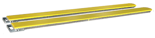 33954998 Nakładki na widły pokryte poliuretanem do wózka widłowego miproFork TWP-N 180x50 (długość wideł: 800 mm) cena za parę