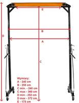 44369007 Suwnica bramowa, mobilny dźwig portalowy (udźwig: 1000 kg, szerokość w świetle: 2300 mm, wysokość podnoszenia: 2500-3600 mm)
