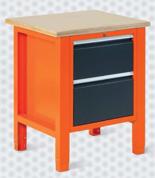 99551601 Stół warsztatowy, 2 szuflady (wymiary: 850-900x725x620 mm)