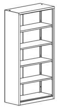 99551720 Regał zamknięty, 4 półki (wymiary: 1990x800x435 mm)
