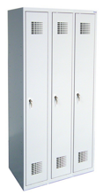 99551960 Szafka ubraniowa 0,8mm, 3 drzwi, zamek cylindryczny zamykany w 3 punktach (wymiary: 1800x900x500 mm)