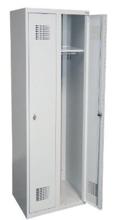 99551971 Szafka ubraniowa 0,8mm, 2 drzwi, zamek cylindryczny zamykany w 3 punktach (wymiary: 1800x800x500 mm)