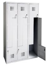 99551996 Szafka ubraniowa 0,8mm, 6 drzwi w kształcie L (wymiary: 1800x900x500 mm)