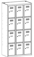 99552110 Szafka ze schowkami 0,8mm, 12 drzwi (wymiary: 1800x1200x500 mm)