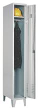 99552121 Szafka ubraniowa 0,6mm na nóżkach, zamek ryglujący drzwi w 3 punktach, 1 drzwi (wymiary: 1940x300x490 mm)