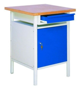 99552445 Stół warsztatowy, 1 drzwi, 1 szuflada (wymiary: 750x600x600 mm)