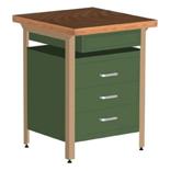 99552447 Stół warsztatowy, 4 szuflady (wymiary: 750x600x600 mm)