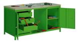 99552450 Stół warsztatowy, 4 szuflady, 2 drzwi (wymiary: 850x2000x750 mm)