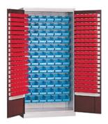 99552475 Szafa warsztatowa do pojemników narzędziowych, szafa dostarczana z pojemnikami (wymiary: 1990x1000x435 mm)