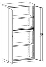 99552483 Szafa warsztatowa, 3 półki, 1 szuflada (wymiary: 1950x1000x540 mm)
