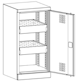 99552532 Szafa warsztatowa, 2 półki, 2 drzwi (wymiary: 1000x500x500 mm)
