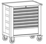 99552535 Wózek warsztatowy, 7 szuflad (wymiary: 900x790x490 mm)