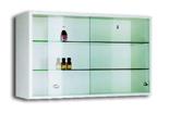99552560 Szafka wisząca, 2 półki, drzwi przesuwne (wymiary: 500x800x250 mm)