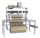 99767960 Zestaw do pakowania + Solidny stół warsztatowy GermanTech z regulacją wysokości 720-970mm (maks. obciążenie: 150 kg, wymiary: 2000x800mm)