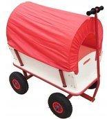 BEDREW Wózek ogrodowy transportowy przyczepka z plandeką (udźwig: 350 kg, wymiary platformy: 80x45 cm) 18677157